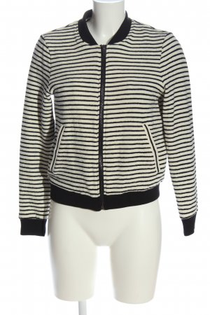 Esprit College Jacket natural white-black striped pattern casual look