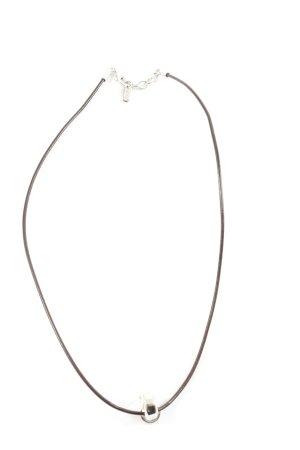 Esprit Collier Necklace black-silver-colored casual look