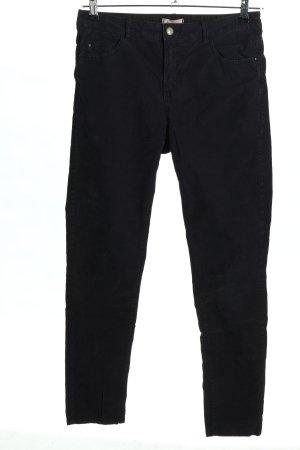 Esprit Pantalone di velluto a coste nero stile casual