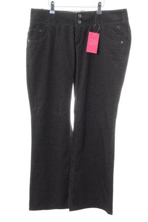 Esprit Pantalon en velours côtelé noir style décontracté