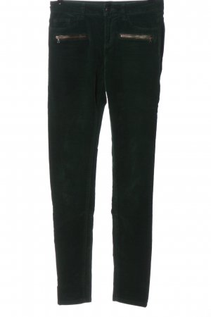 Esprit Corduroy Trousers green striped pattern casual look