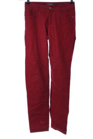 Esprit Pantalon en velours côtelé rouge style décontracté