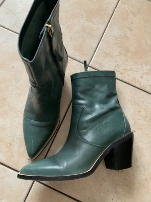 Esprit Western Booties forest green-green grey leather