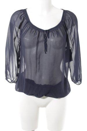 Esprit Crash-Bluse blau Casual-Look
