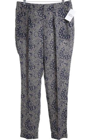 Esprit Culottes creme-dunkelblau abstraktes Muster Business-Look