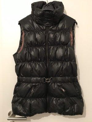 Esprit Damen Daunen Weste, Größe 40, Farbe schwarz mit Taillengürtel