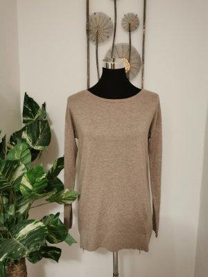 Esprit Damen Feinstrick Pullover Strickpullover Pulli beige Größe S