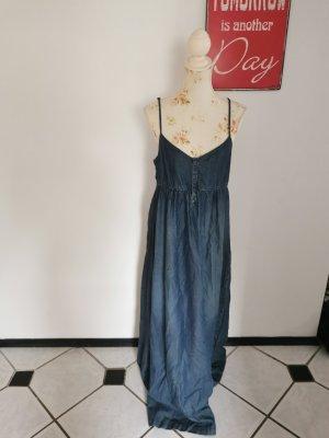 Esprit Damen Jeanskleid Maxikleid Trägerkleid blau Größe 42