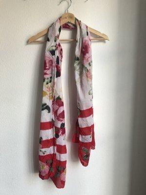 Esprit Summer Scarf white-raspberry-red