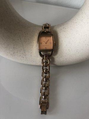 Esprit Damen Uhr Gold Kupfer Modeschmuck