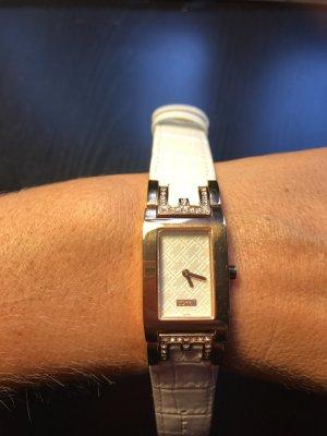 Esprit Damen Uhr weiß rosegold