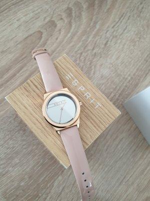 Esprit Reloj con pulsera de cuero color rosa dorado-rosa empolvado Cuero