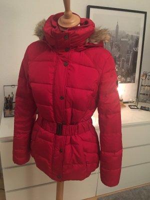 Esprit Daunenjacke mit Fell in Rot