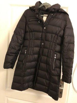 Esprit Płaszcz puchowy czarno-brązowy Poliamid