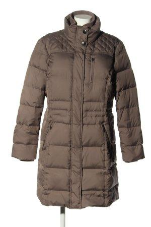 Esprit Manteau en duvet gris clair motif de courtepointe style décontracté