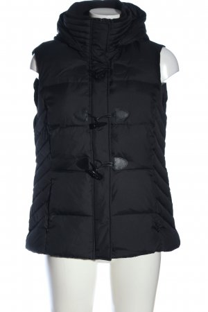 Esprit Down Vest black quilting pattern casual look