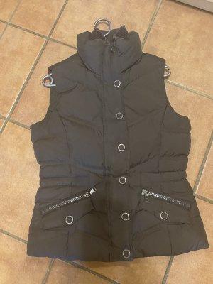 Esprit Puchowa kamizelka ciemnobrązowy-brązowy