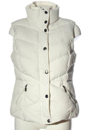 Esprit Puchowa kamizelka biały Pikowany wzór W stylu casual