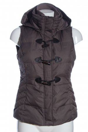Esprit Down Vest brown quilting pattern casual look