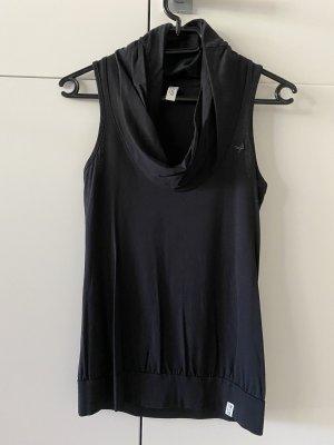Esprit de.corp Shirt mit Kragen Oberteil schwarz Gr. XS/S