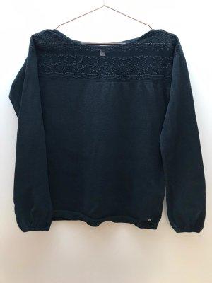 Esprit dünner Pullover mit Spitzeneinsatz