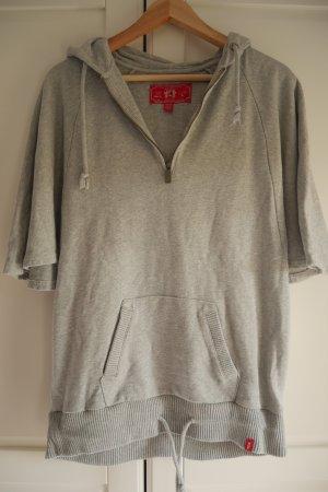 Esprit Sweter z krótkim rękawem jasnoszary