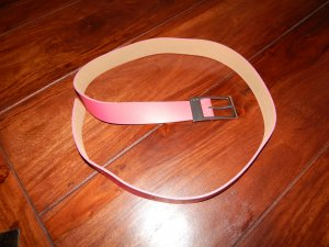 Esprit Leather Belt pink leather