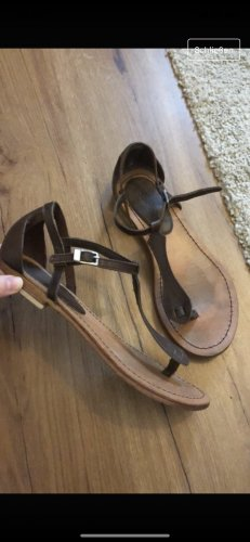 Esprit Sandalias romanas marrón oscuro-marrón