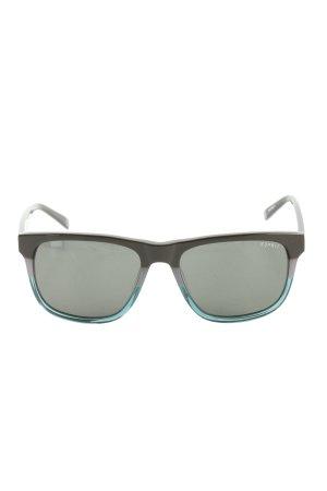 Esprit Hoekige zonnebril zwart-blauw kleurverloop casual uitstraling