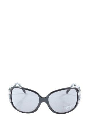 Esprit Gafas de sol cuadradas negro-color plata look casual