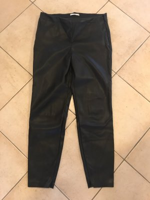 edc by Esprit Leather Trousers black
