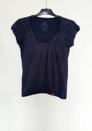 Esprit edc Shirt mit Häkelmuster