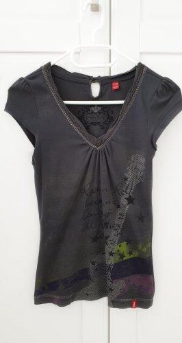 Esprit edc T-Shirt grau mit Print