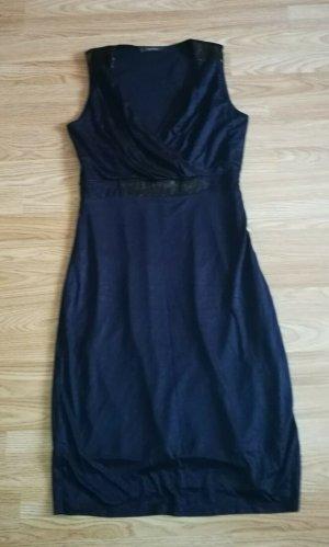 Esprit elegantes Jersey Pailetten Abendkleid  marine Gr. 38 TOP Zustand