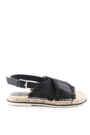 Esprit Espadrilles-Sandalen schwarz-creme Casual-Look