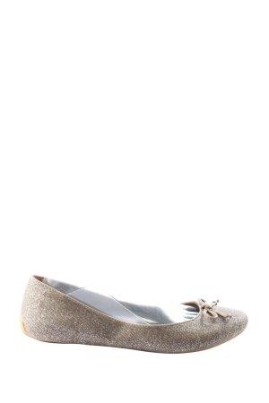 Esprit Składane baleriny srebrny-kremowy Melanżowy W stylu casual