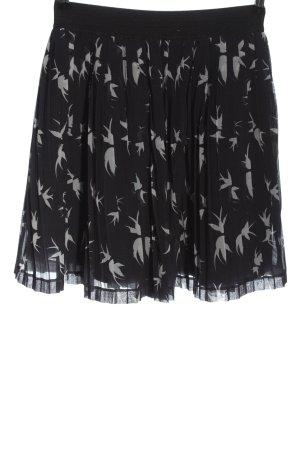 Esprit Plaid Skirt black-natural white allover print casual look