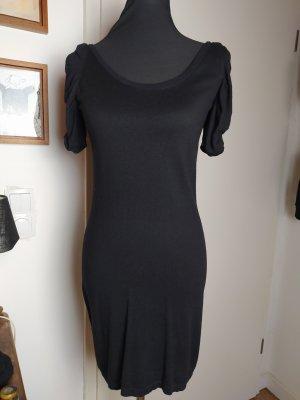 Esprit Feinstrick-Kleid schwarz, weicher Viskose-Baumwollstrick, 36/S