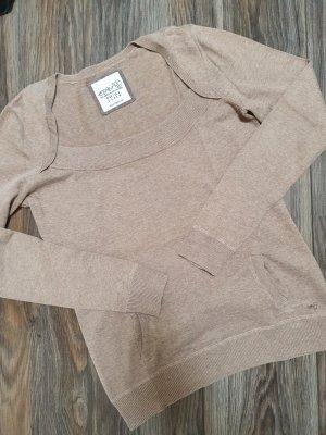 Esprit Feinstrick Pullover taupefarben Gr. S