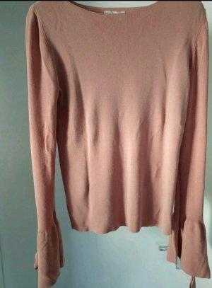 Esprit Sweter bez rękawów z cienkiej dzianiny stary róż