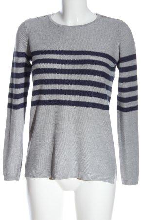 Esprit Sudadera de punto fino gris claro-azul estampado a rayas look casual