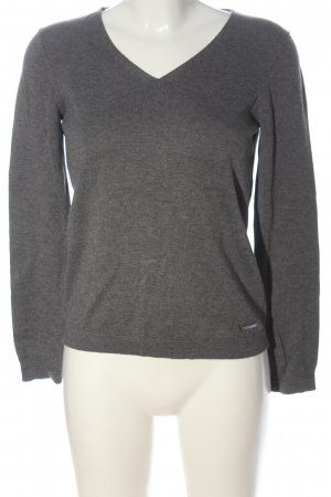 Esprit Sudadera de punto fino gris claro moteado look casual