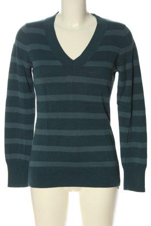 Esprit Fine Knit Jumper blue striped pattern casual look
