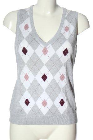 Esprit Sweter bez rękawów z cienkiej dzianiny Graficzny wzór W stylu casual