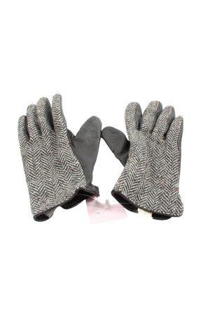 Esprit Rękawiczki czarny-biały Graficzny wzór W stylu casual
