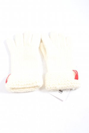 Esprit Vingerandschoenen wit casual uitstraling