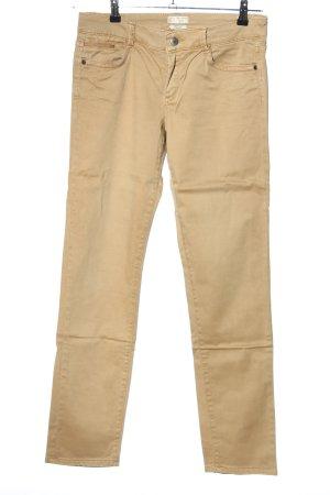 Esprit Pantalon cinq poches crème style décontracté