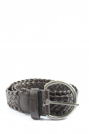 Esprit Cinturón trenzado negro look casual