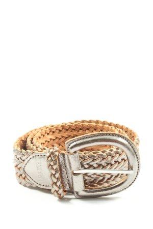 Esprit Cinturón trenzado blanco puro estampado temático elegante