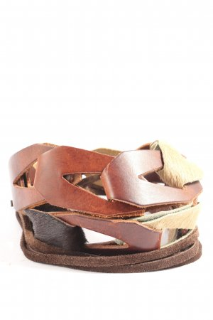Esprit Braided Belt brown-cream animal pattern extravagant style